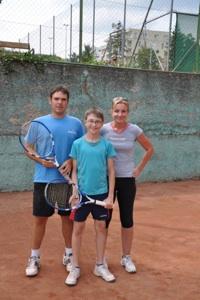 Tennisschule mit Barbara